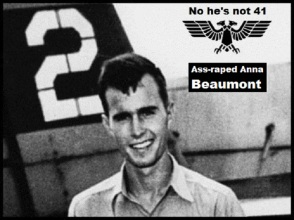 Bush #02 double headed black eagle ~ Ass-raped Anna Beaumont