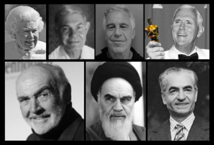 Queen Tillerson Epstein Pence Connery Ayatollah Shah EDIT