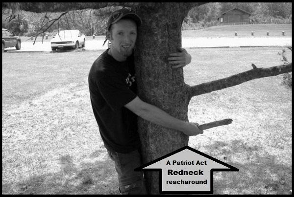 A Patriot Act Redneck reacharound arrow BW 600