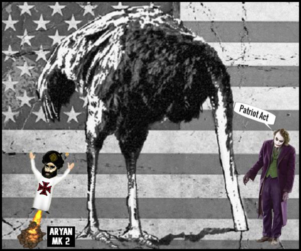 American Emu flag Joker ARYAN Mk 2e 600
