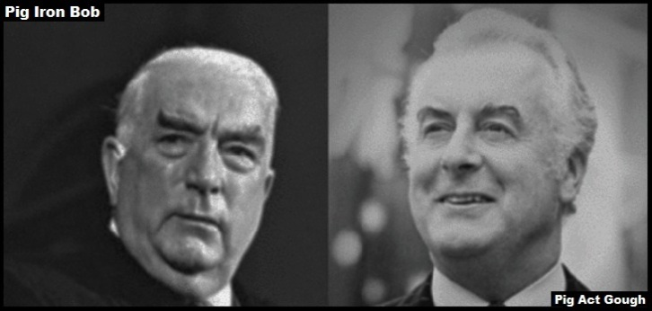 Pig Iron Bob Menzies Pig Act Gough Whitlam Large