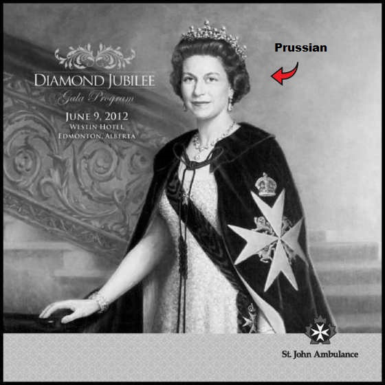 Queen Knight of Malta Prussian RED ARROW BW 560