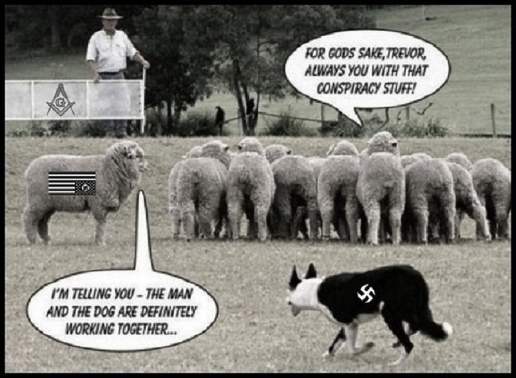 Sheep sheepdog fascist Masonic conspiracy 730 darker more color