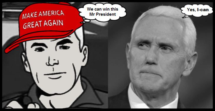Captain Pence President cartoon