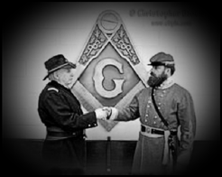 Civil War Masons black and white VIGNETTE LARGE