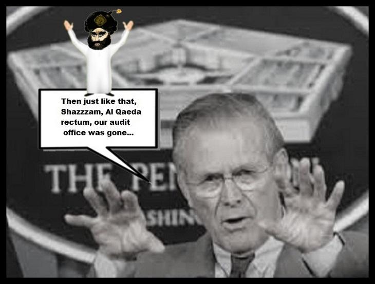 Rumsfeld Al Qaeda rectum, our audit office was ISLAMIC