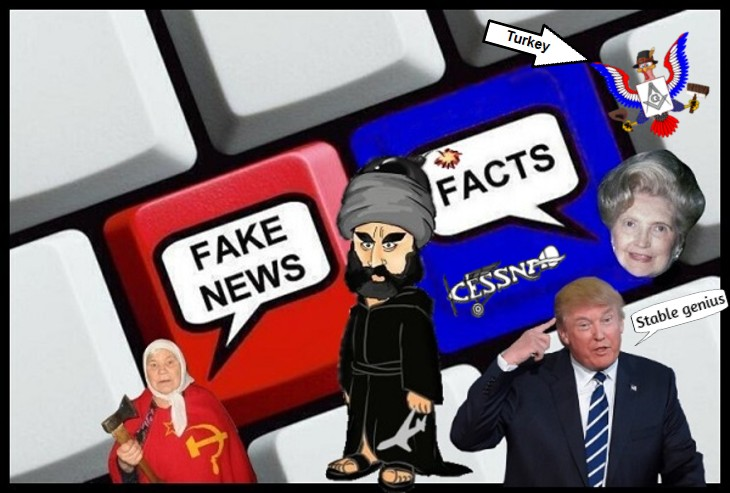 A laqrge Fake news Russian Lady FACTS MARY TRUMP STAble genius turkey ALTERED