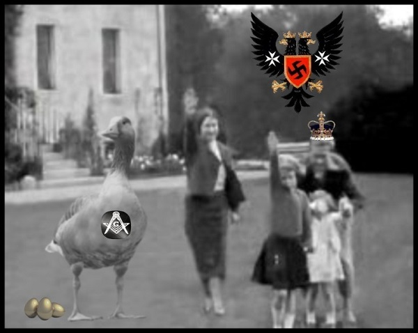AAA ROYAL FAMILY Prussian Nazi goose CROWN 600