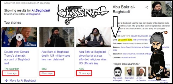 Al Baghdadi Cessna Islam 600
