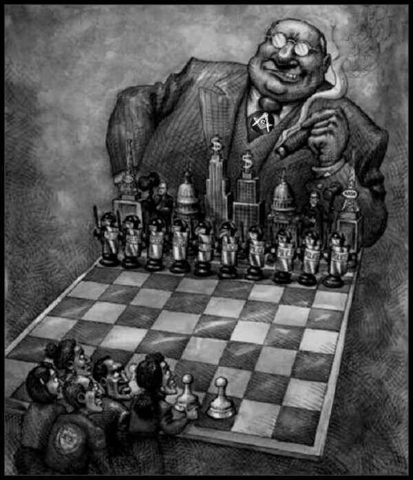 BOSS TWEED'S Big Town MASONIC BOSS CHESS BW