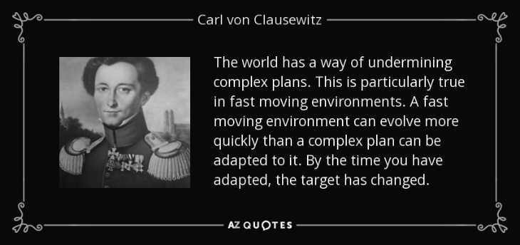 CLAUSEWITZ a fast moving target BW