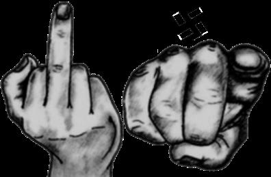 Nazi finger TRANS