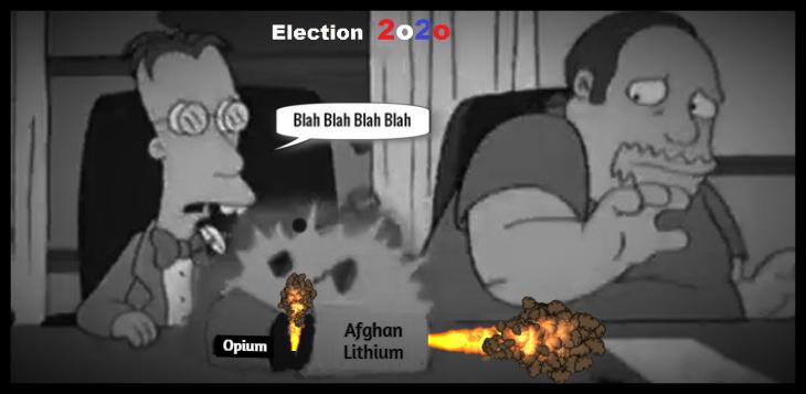 Simpsons Election 2020 Afghan Opium Lithium sarcasm