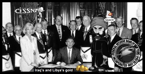 Bush_QUACK Masonic_ISLAM US Fed shark CESSNA 600
