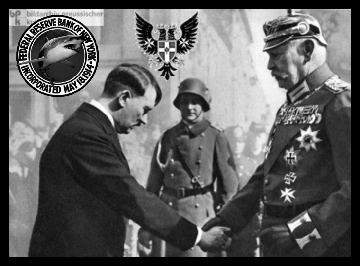 Hitler Hindenberg PRUSSIAN EAGLE US Fed shark