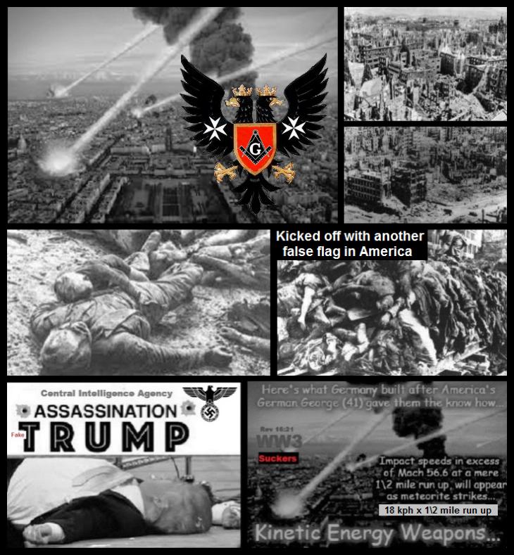 After the genocide Dresden etc FALSE FLAG Fake Trump