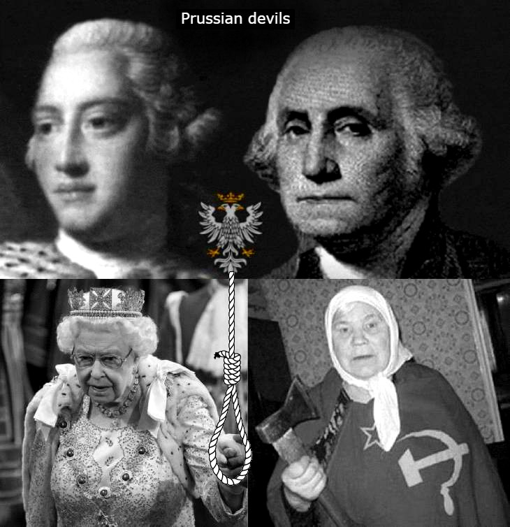 BETTER PRUSSIAN DEVILS King George + King George + Queen's of England and Russia HANGMAN'S NOOSE 730