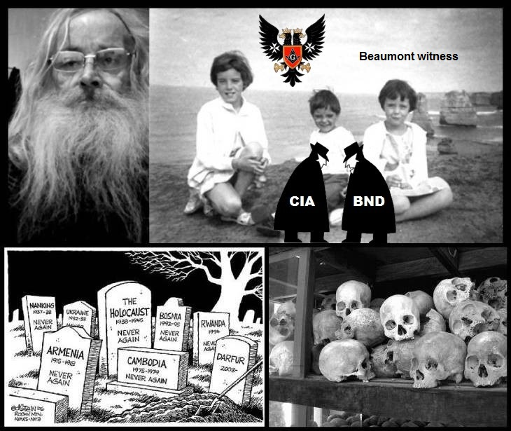 Old Robby + the CIA Beaumont children murders BW Spy Masonic Prussian eagle