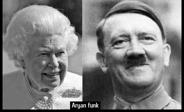 Queen Hitler Aryan funk 730 border CROP TOP