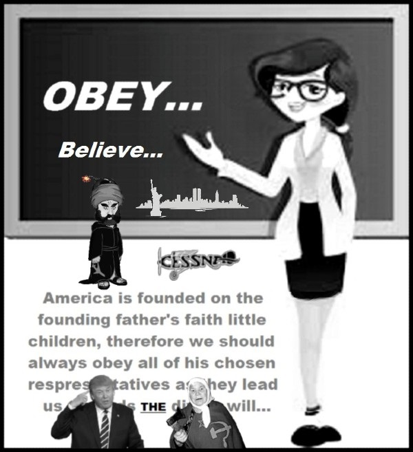 Teacher Obey THE divine will TRUMP 600