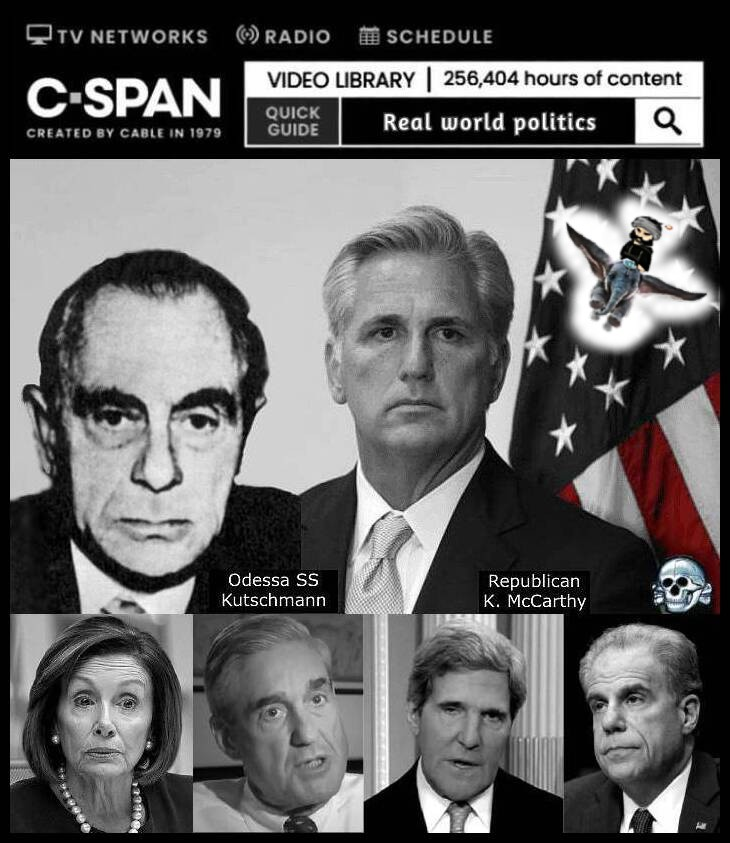 CSpam REAL WORLD Kutschmann McCarthy Pelosi Mueller Faux Kerry Horowitz DUMBO 730