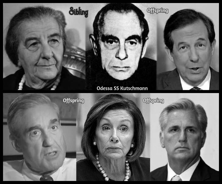 Golda Meir ODESSA OFFSPRING SS Kutschmann Chris Wallace Mueller Pelosi McCarthy 730 BORDER