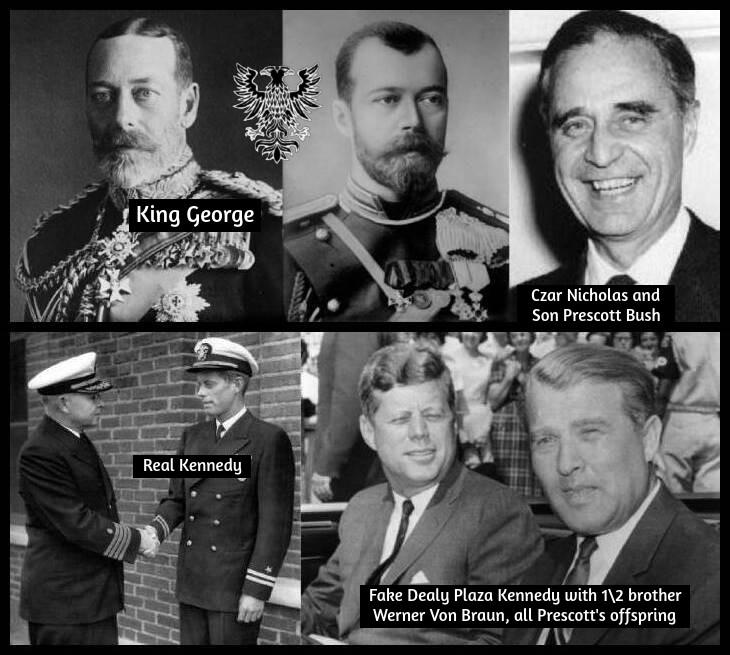 King George Czar Nicholas Kennedy FAKE KENNEDY + Von Braun EAGLE 730