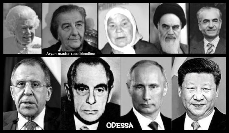 queen-golda-meir-russian-lady-ayatollah-shah-aryan-Odessa KUTSCHMANN Putin JinPing Lavrov