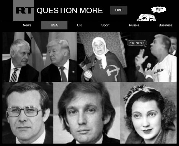 rt-grin-guy BW 730 Trump trumped Dave mother Mary Ukrainan Russian mother and 45