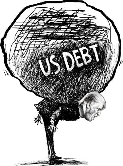 Trump US DEBT drawing dumb head Trans 400 wide