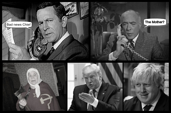 Maxwell Smart Chief Russian Lady Faux Trump Johnson THE MOTHER 600