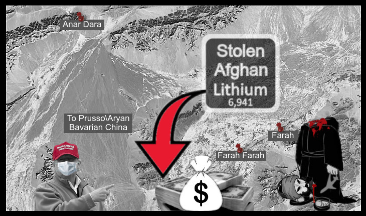 Prusso-Aryan Bavarian China Afghanistan (EDIT AFGHAN CASH) Lithium Islam 730 BORDER